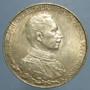 Click now to see the BUY IT NOW Price! CHOICE AU 1913 A PRUSSIAN SILVER ZWEI MARKS   LUSTROUS AND NICELY TONED