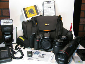 NIKON D3400 24.2MP DSLR CAMERA BUNDLE WITH 3 LENSES & MANY ACCESSORIES.