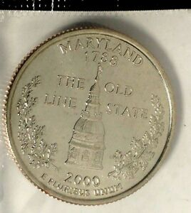 2000 D 25C STATE QUARTER MARYLAND 18SH1006 BU CLAD MINT SET 50 CENTS SHIPPING