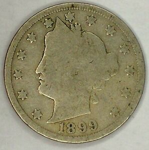 1899 P 5C LIBERTY HEAD NICKEL 19R0823 ONLY 50 CENTS FOR SHIPPING