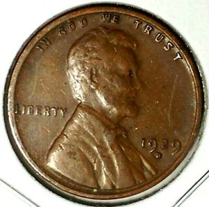 1929 D 1C LINCOLN WHEAT CENT 19RR0406 ONLY 50 CENTS FOR SHIPPING