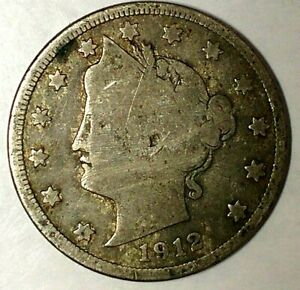 1912 D 5C LIBERTY HEAD NICKEL 19LAU0328 2 ONLY 50 CENTS FOR SHIPPING