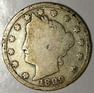 1899 P 5C LIBERTY HEAD NICKEL 18CT1103 ONLY 50 CENTS FOR SHIPPING