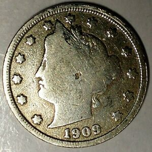 1909 P 5C LIBERTY HEAD NICKEL 18LTO1103 ONLY 50 CENTS FOR SHIPPING