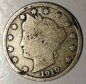 1910 P 5C LIBERTY HEAD NICKEL 18LTO1103 ONLY 50 CENTS FOR SHIPPING
