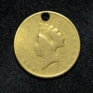 $1 GOLD T 2 LIBERTY JEWELRY PIECE COIN IS HOLED  CN6662