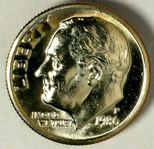1986 P 10C ROOSEVELT DIME 18OT2003 BU CLAD ONLY 50 CENTS SHIPPING