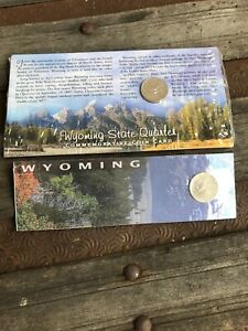 2   WYOMING STATE QUARTER COMMEMORATIVE COIN CARD  2007 STATE QUARTER  NEW