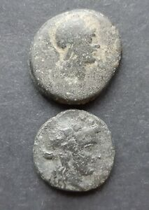 ANCIENT GREEK COINS. LOT OF 2 COINS