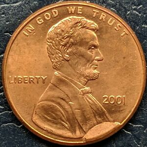 2001 LINCOLN MEMORIAL CENT ERROR  CUD  AMAZING EYE APPEAL   DATE