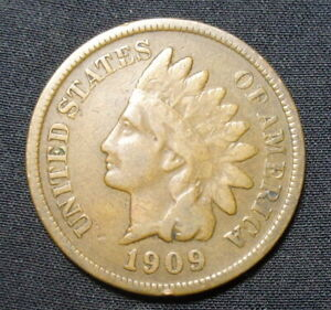 1909 INDIAN HEAD PENNY VG/F GOOD FINE BRONZE ONE CENT COIN B