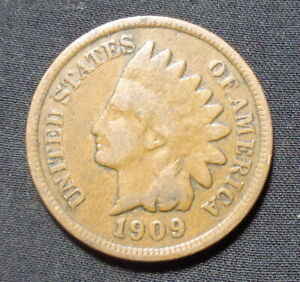 1909 INDIAN HEAD PENNY GOOD  BRONZE ONE CENT COIN