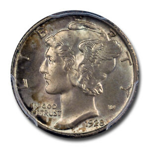 Click now to see the BUY IT NOW Price! 1928 10C MERCURY DIME PCGS MS67FB