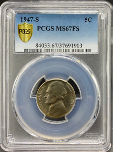 Click now to see the BUY IT NOW Price! 1947 S JEFFERSON 5C PCGS MS 67 FS