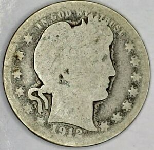 1912 P 25C BARBER QUARTER 19OAC0918 90  SILVER 50 CENTS SHIPPING