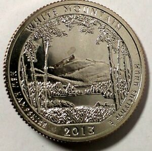 2013 D 25C ATB QUARTER WHITE MOUNTAINS RR BU CN CLAD ONLY 50 CENTS FOR SHIPPING