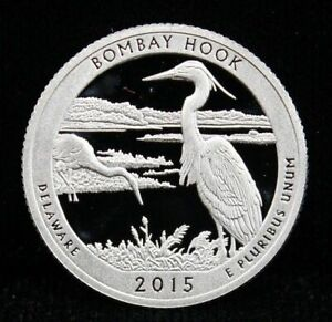 2015 S 25C ATB QUARTER BOMBAY HOOK WA GDC CLAD ONLY 50 CENTS SHIPPING