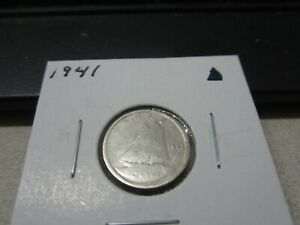 1941   CANADA   SILVER 10 CENT COIN   CANADIAN DIME