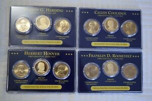 LOT OF  4  OFFICIAL PRESIDENTIAL COIN SET 2014 DOLLAR P D S PROOF HARDING HOOVER