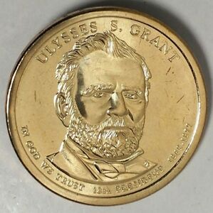 2011 D PRESIDENTIAL DOLLAR ULYSSES S GRANT LRR BU 50 CENTS SHIPPING