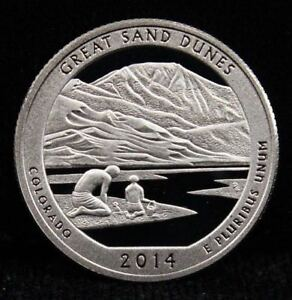 2014 S 25C ATB QUARTER GREAT SAND DUNES LSR GDC CLAD 50 CENTS SHIPPING