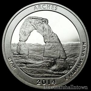 2014 S 25C ATB QUARTER ARCHES LSR GDC CLAD ONLY 50 CENTS FOR SHIPPING