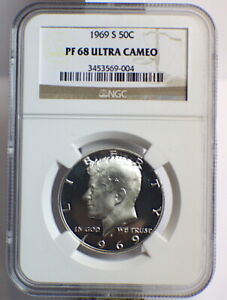 Click now to see the BUY IT NOW Price! 1969 S NGC PF 68 UC SILVER DOLLAR KENNEDY UTLRA CAMEO  50C