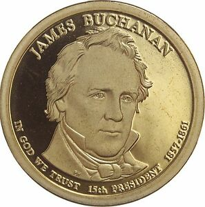 2010 S PRESIDENTIAL DOLLAR JAMES BUCHANAN LRR GDC PROOF 50 CENTS SHIPPING