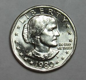 1980 S SUSAN B. ANTHONY DOLLAR IN BU CONDITION