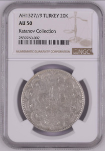Click now to see the BUY IT NOW Price! NGC AU 50 AH1327 / 9 TURKEY NGC 20K