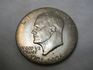 1976 D TYPE 1 UNCIRCULATED IKE DOLLAR .  COMBINE SHIPPING.