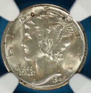 1942 S MERCURY DIME NGC MS67FB  STRONG LUSTER LIGHT TONE