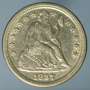 Click now to see the BUY IT NOW Price! VERY NICE SHARP AU 1857 LIBERTY SEATED DIME