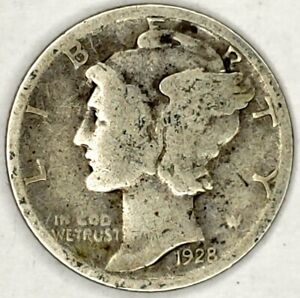 1928 P 10C MERCURY DIME 90  SILVER 20LLW0119 50 CENTS SHIPPING