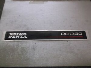 NEW OEM VOLVO PENTA D6-280 STICKER 3584217   - EUR 105.12
