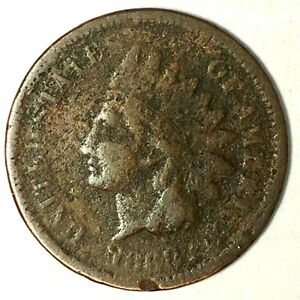 1868 P 1C INDIAN HEAD CENT  KEY DATE 19LTCU051950 CENTS SHIPPING
