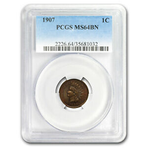 1907 INDIAN HEAD CENT MS 64 PCGS  BROWN    SKU179515