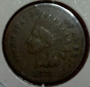 1874 INDIAN HEAD CENT PENNY 1 C  BETTER DATE