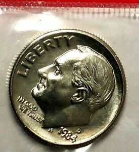 1984 D 10C ROOSEVELT DIME BU MINT SET 18CO0501 50 CENTS SHIPPING