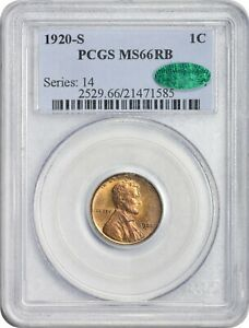 Click now to see the BUY IT NOW Price! POP 1 FINEST 1920 S 1C MS66 RB PCGS CAC RED BROWN LINCOLN PENNY 99  FULL RED