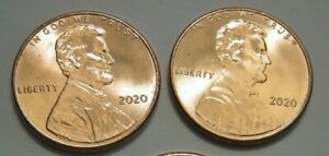 2020 P SHIELD CENT LINCOLN X 2 COINS FROM BU ROLLS. IN HAND READY TO SHIP TODAY