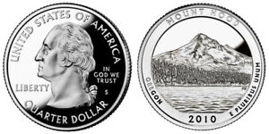 2010 S 25C ATB QUARTER MOUNT HOOD GDC PROOF CN CLAD SET/ROLL 50 CENTS SHIPPING