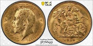 Click now to see the BUY IT NOW Price! AUSTRALIA 1918 PERTH HALF SOVEREIGN PCGS MS64 LOT 0306