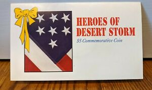 HEROES OF DESERT STORM $5 COMMEMORATIVE COIN REPUBLIC OF MARSHALL ISLANDS