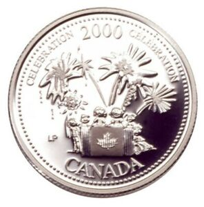 2000 CANADA MILLENNIUM SERIES JULY   CELEBRATION SILVER PROOF 25 CENTS