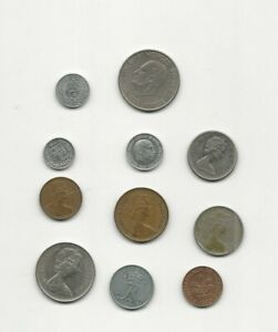 NEAT JOB LOT OF FOREIGN WORLD COINS 1959 TO 1981