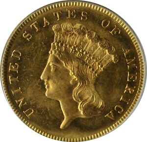 Click now to see the BUY IT NOW Price! 1880  $3 INDIAN PRINCESS PCGS MS64  CAC 20883895