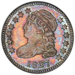 Click now to see the BUY IT NOW Price! 1827 BUST DIME JR 12 PCGS MS 65  GOLD CAC EX. NEWMAN WOW