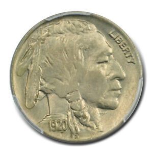 1920 5C BUFFALO NICKEL PCGS MS64