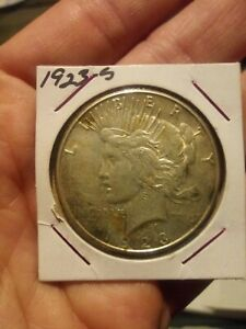 1923 S PEACE SILVER DOLLAR   CIRCULATED CONDITION NICE COIN GREAT PRICE